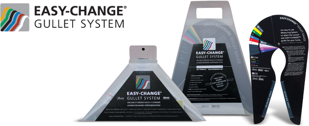 EASY-CHANGE® Gullet System complete and individual kits and gauge.